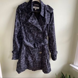 Hawke & Co animal print trench/rain coat  Sz M